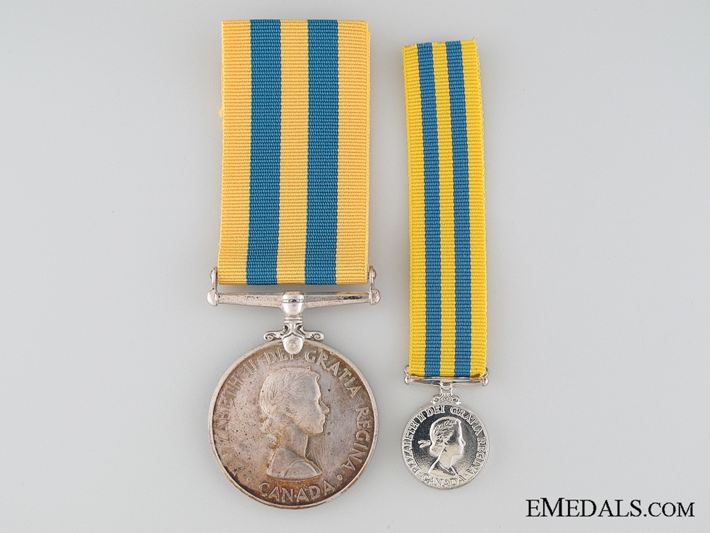 eMedals-Canadian Korea Medal with Miniature