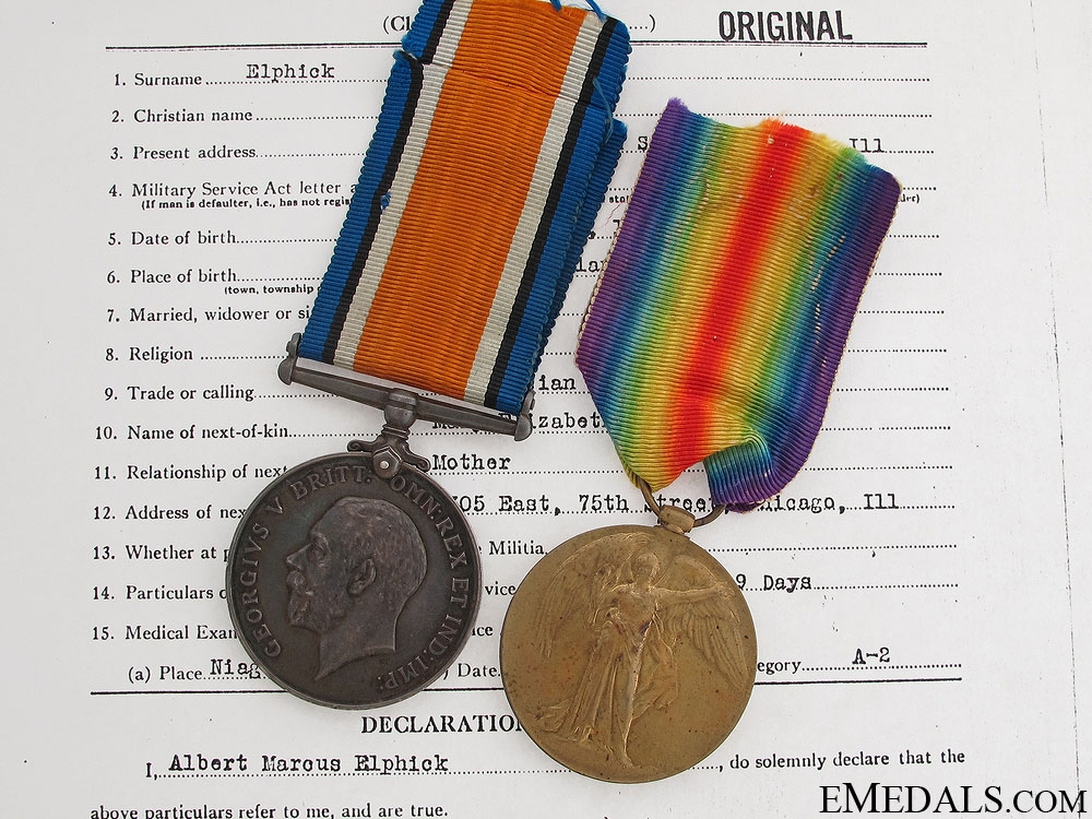 eMedals-Canadian Siberian Expeditionary Force Pair