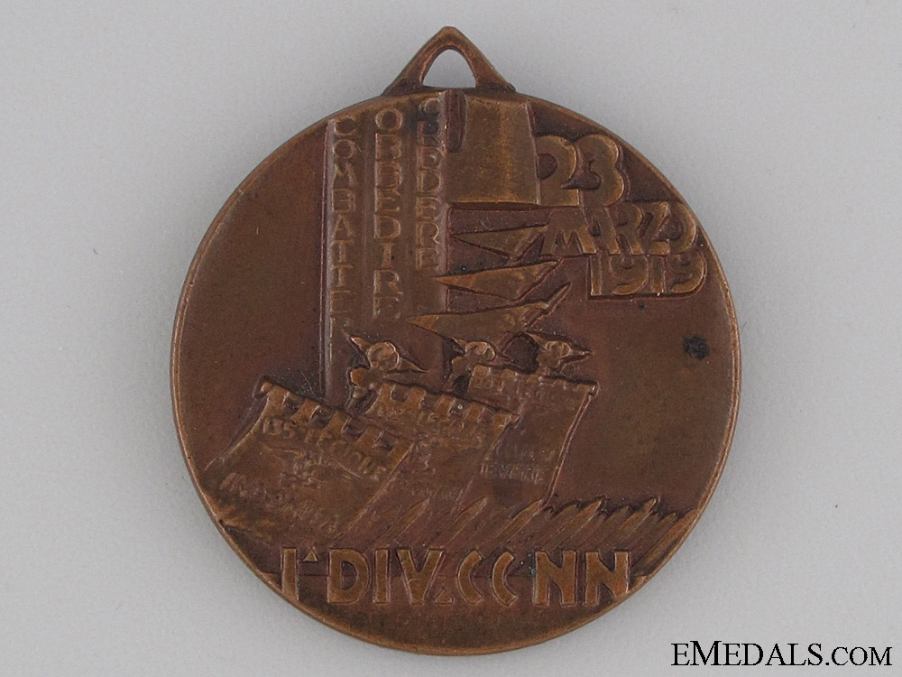 eMedals-Carabinieri 1st Division Medal March 23, 1919