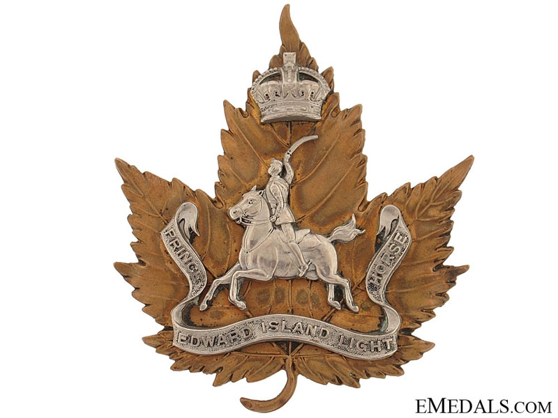 eMedals-A Rare Prince Edward Island Light Horse Cavalry Badge