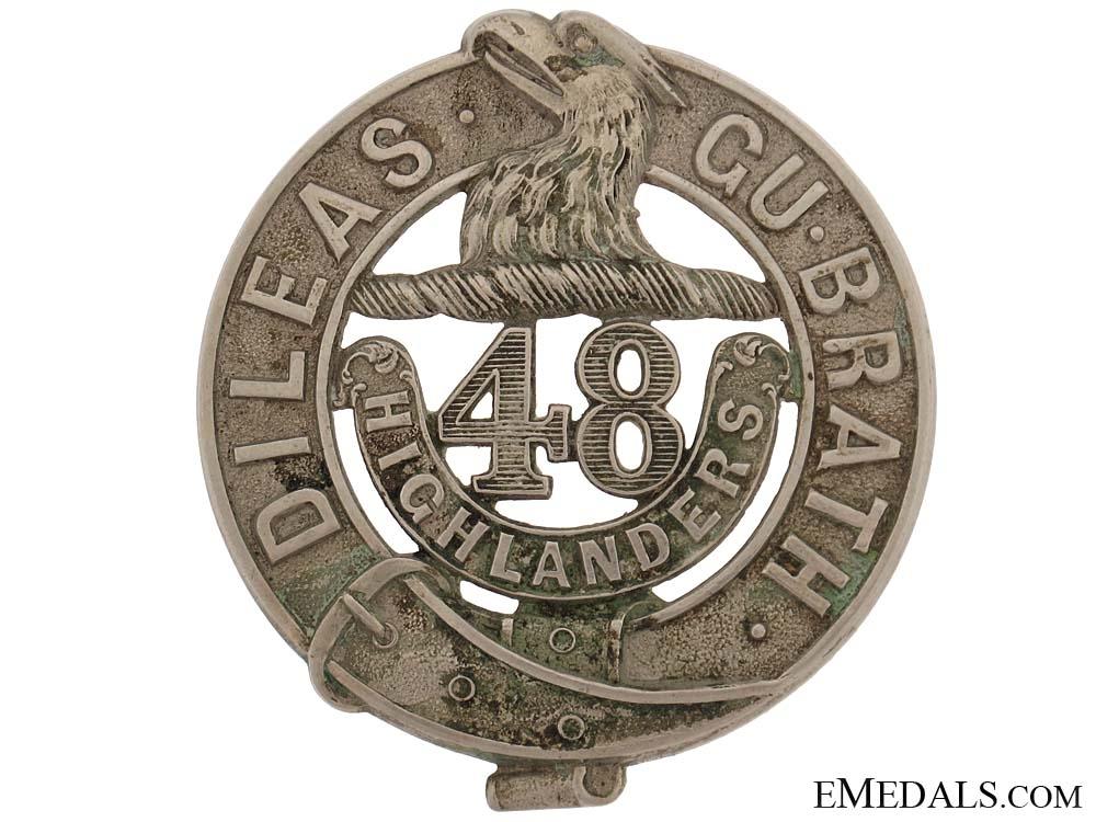 eMedals-48th Highlanders Glengarry Badge