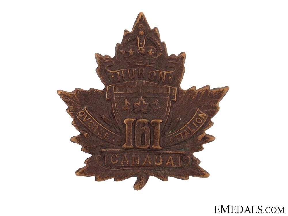 eMedals-WWI 161st Infantry Battalion Cap Badge