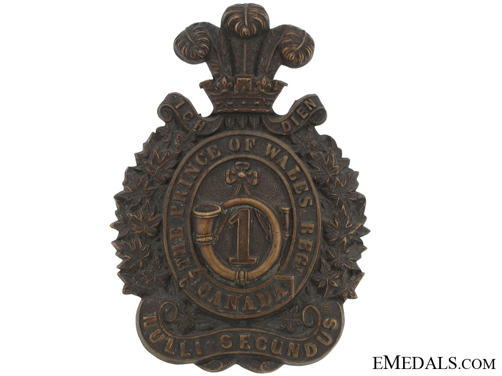 eMedals-First Prince of Wales Regiment Helmet Plate