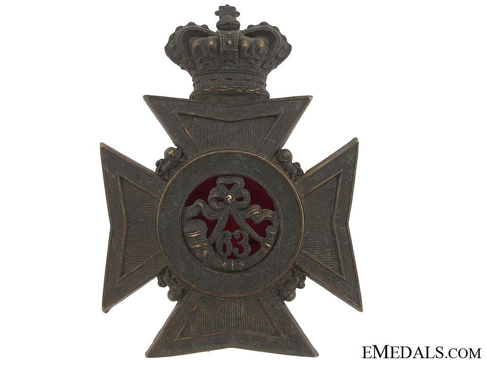 eMedals-63rd Halifax Rifles Helmet Plate