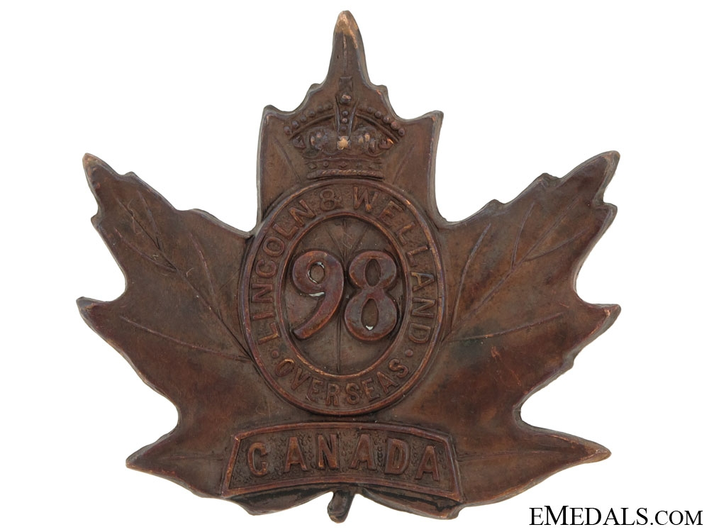 eMedals-98th Battalion Cap Badge, CEF