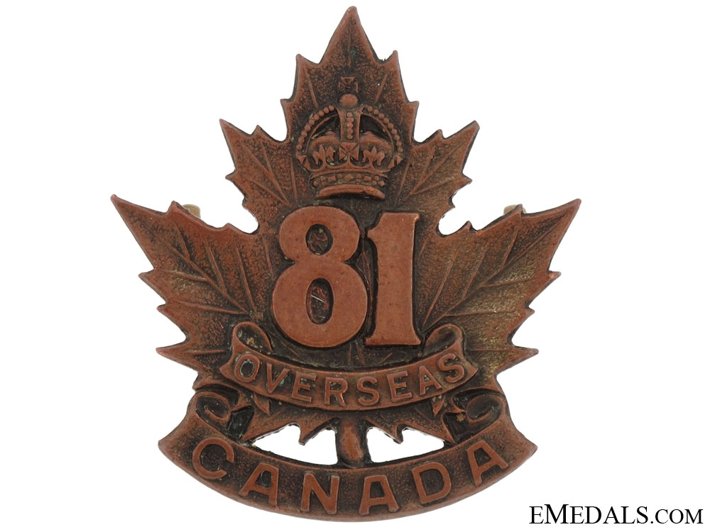 eMedals-81st Battalion (Toronto) Cap Badge, CEF