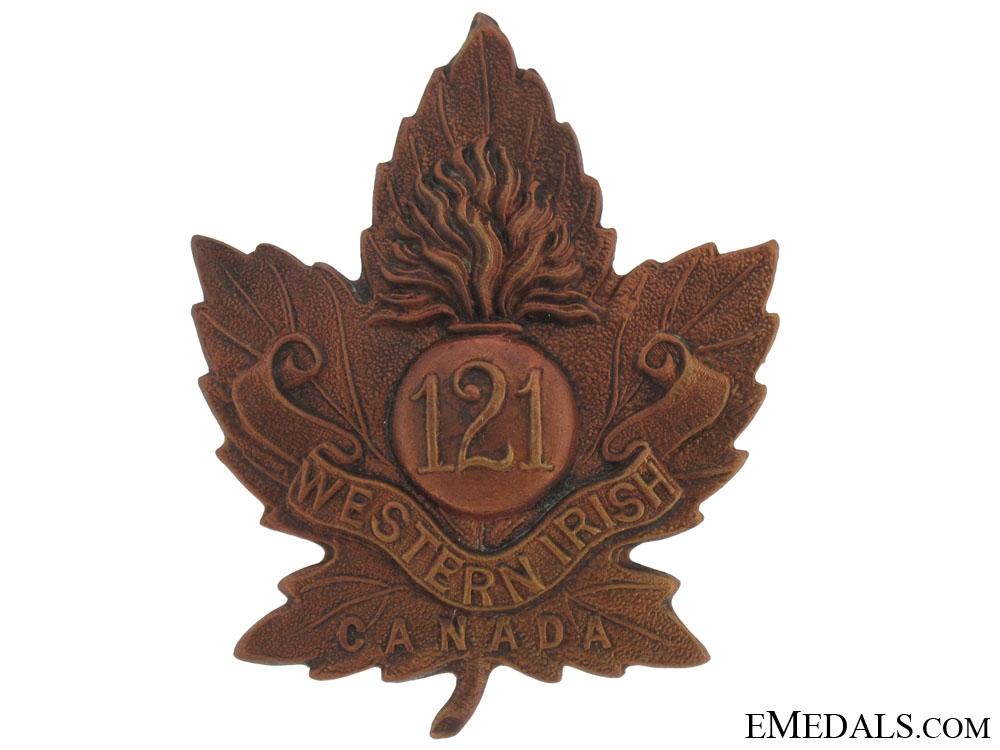 eMedals-121st Battalion (Western Irish) Cap badge, CEF