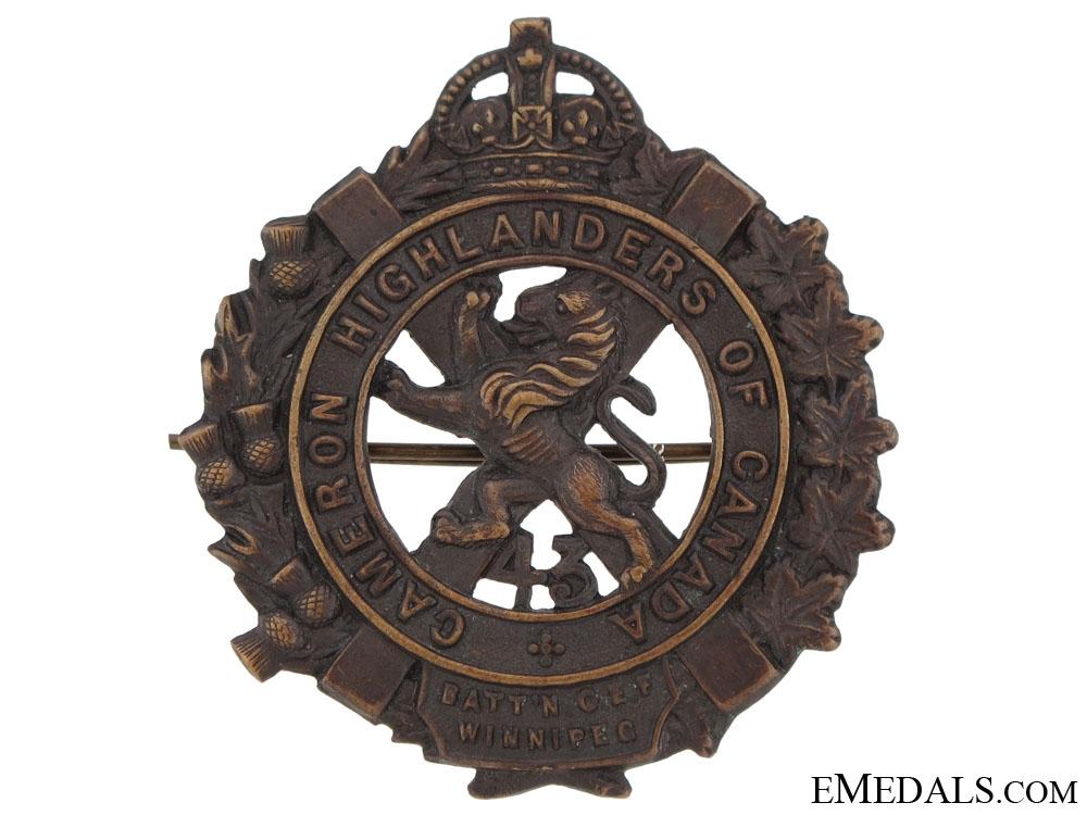 eMedals-43rd Cameron Highlanders Cap Badge, CEF