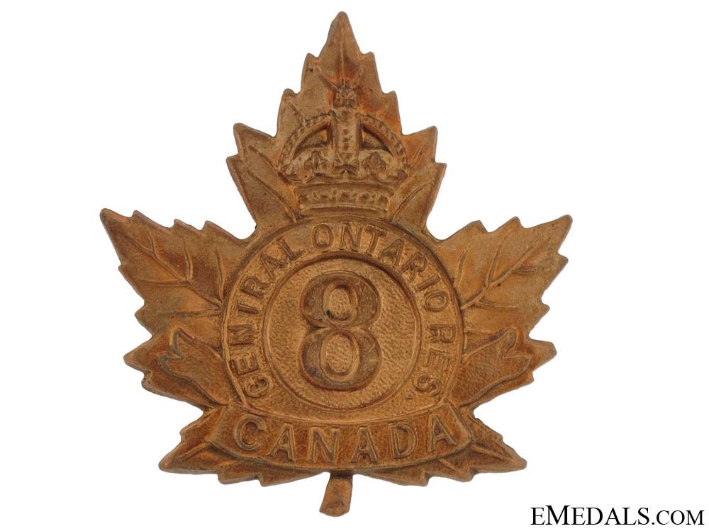 eMedals-8th Cental Ontario Reserve Regiment Cap Badge