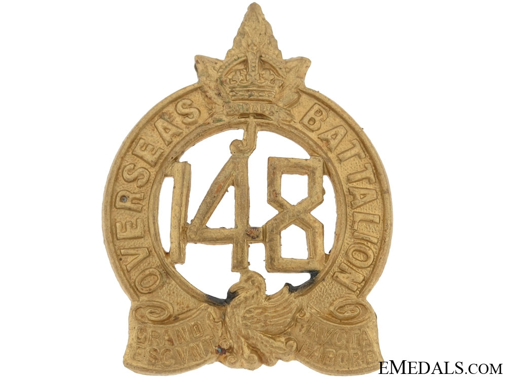 eMedals-148th Battalion (Montreal) Officers Cap Badge