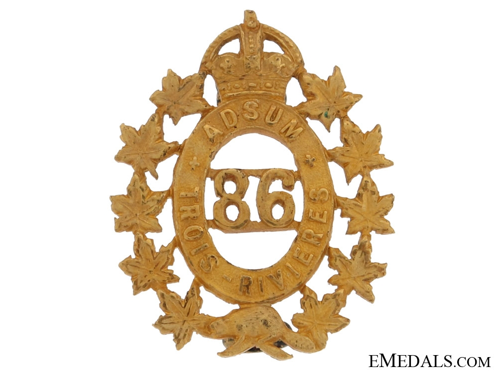 eMedals-86th Trois Rivieres Officer's Collar Badge
