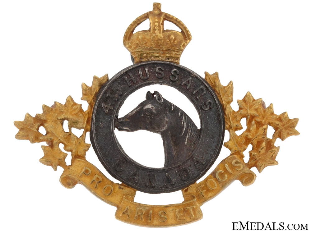 eMedals-4th Hussars Collar Badge