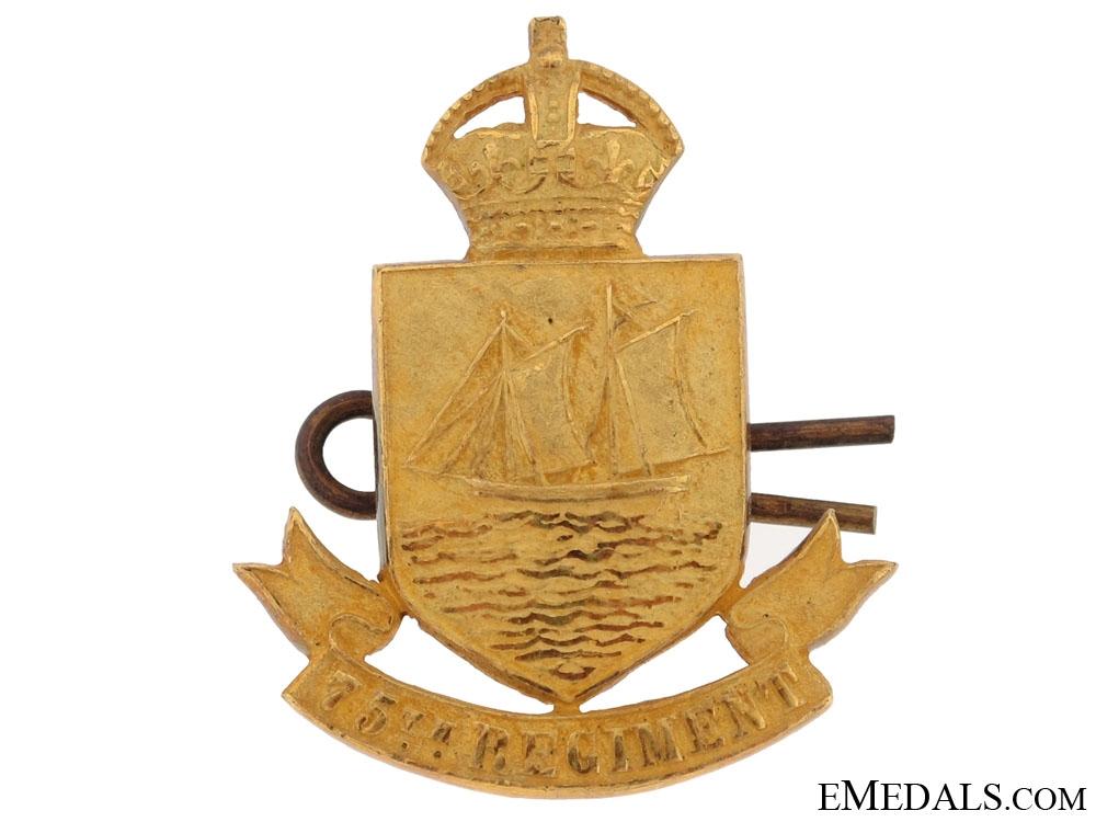 eMedals-75th Militia Regiment (Lunenburg, Nova Scotia) Badge