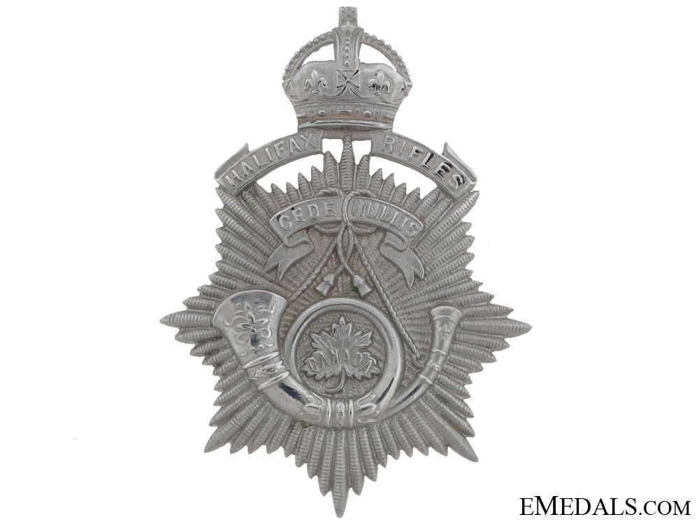 eMedals-An Officer's Halifax Rifles Helmet Plate