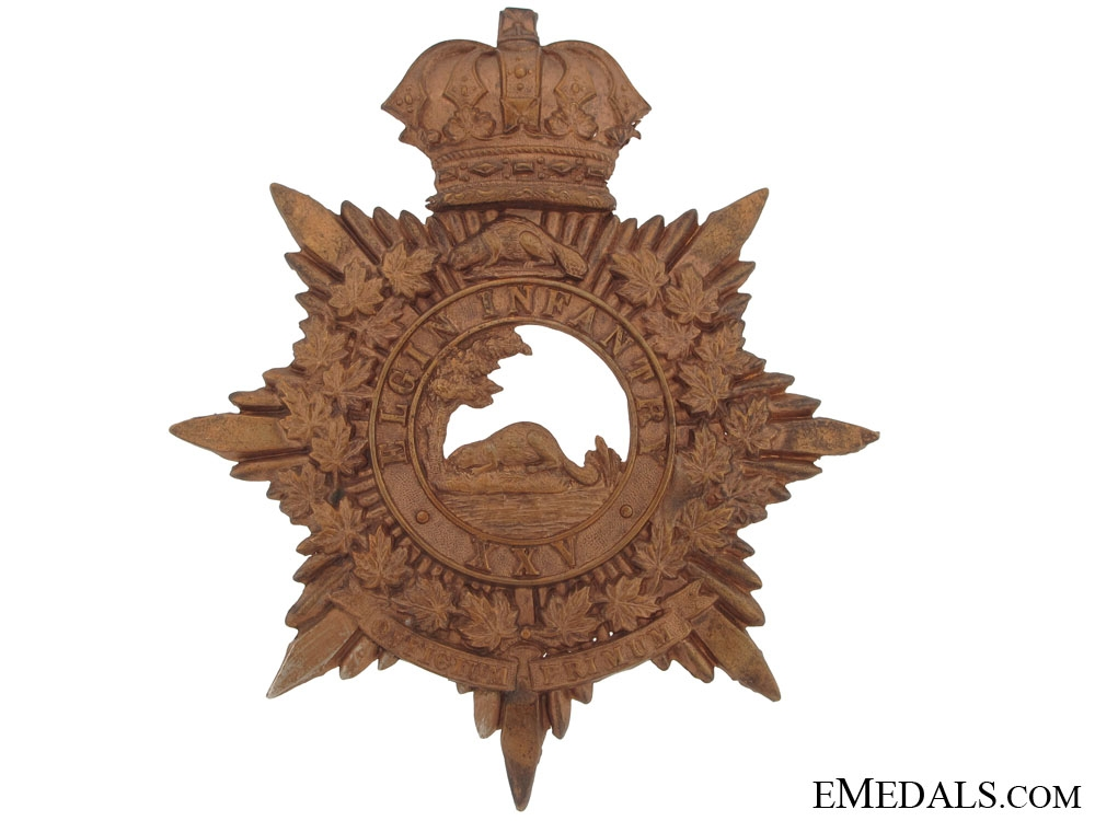eMedals-25th Elgin Battalion of Infantry (St.Thomas, Ont) Helmet Plate