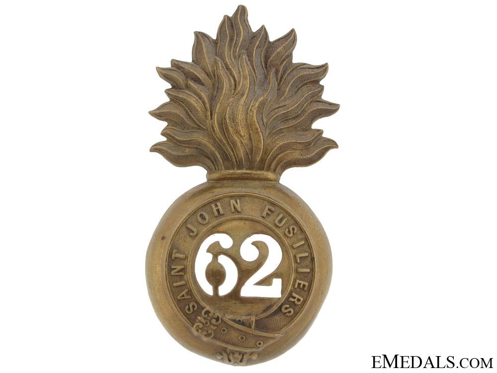 eMedals-62nd St. John's Fusiliers Fur Cap Grenade