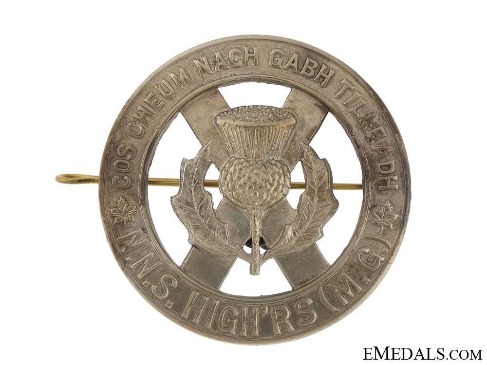 eMedals-North Nova Scotia Highlanders Glengarry Badge