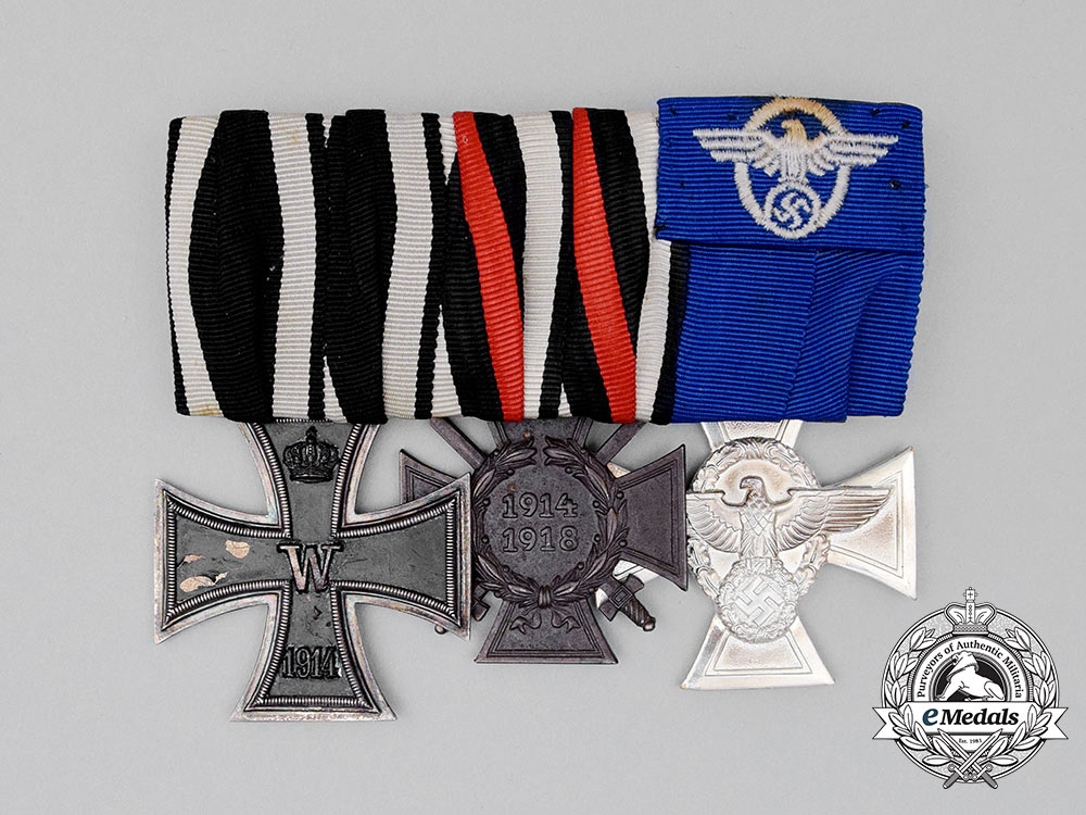 eMedals-A First and Second War German Police Long Service Medal Bar Grouping