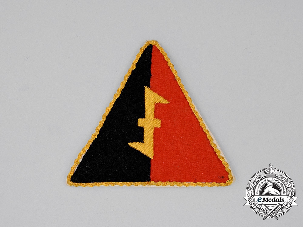 eMedals-A Dutch NSB Officer's Tunic Sleeve Patch