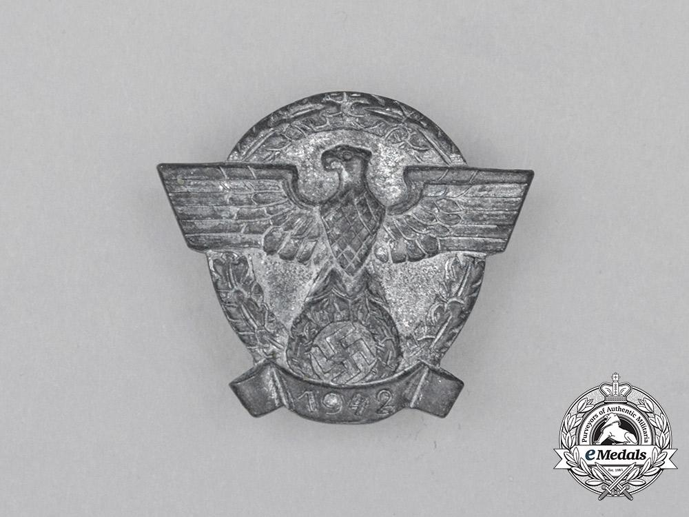 eMedals-Germany, Police. A 1942 German Police/Gendarmerie Membership Badge