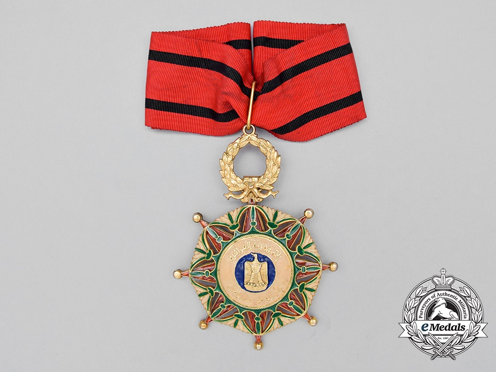 eMedals-An Iraqi Order of the Two Rivers; Officer's Neck Badge 2nd Class Civil Division
