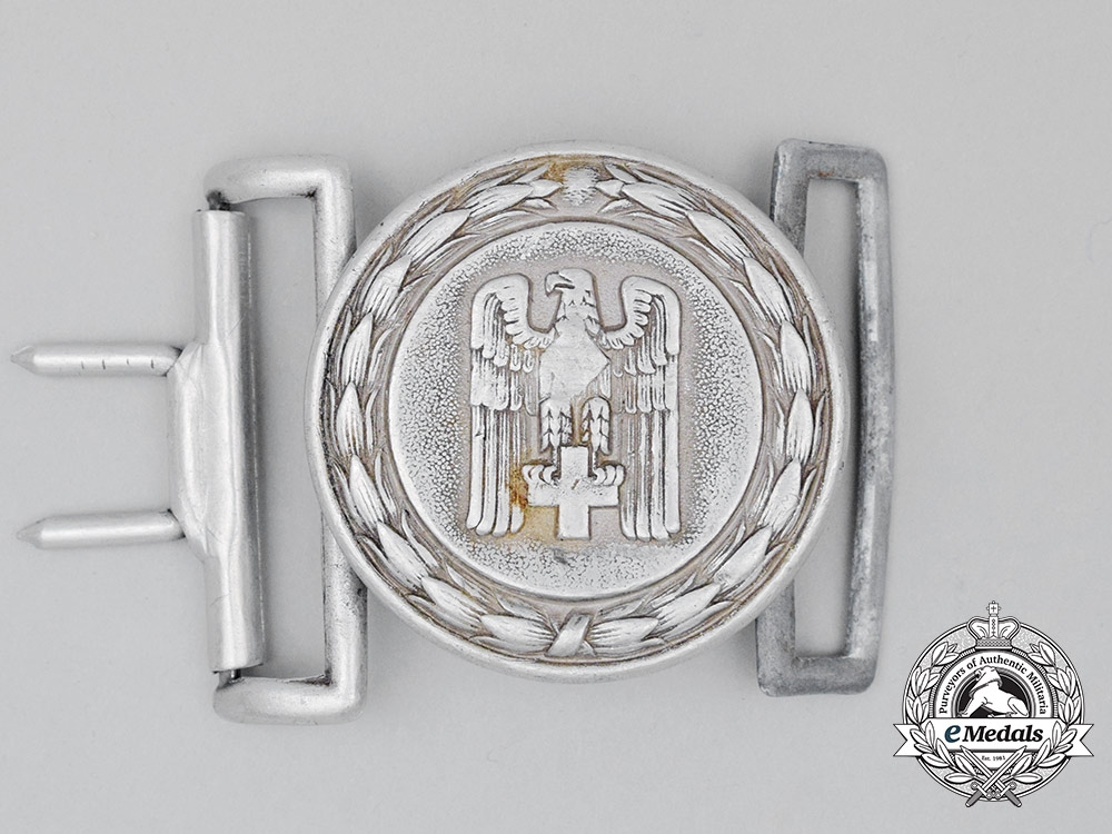 eMedals-A DRK (German Red Cross) Officer's Belt Buckle by Manufacturing Contract 2