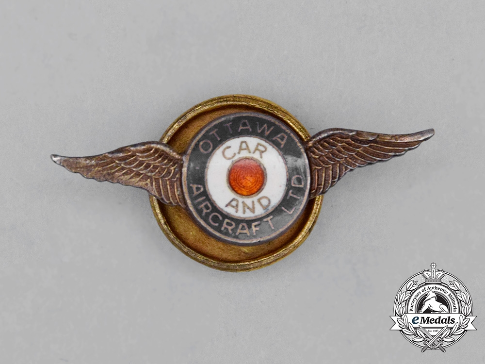 eMedals-An Ottawa Car and Aircraft Limited Badge