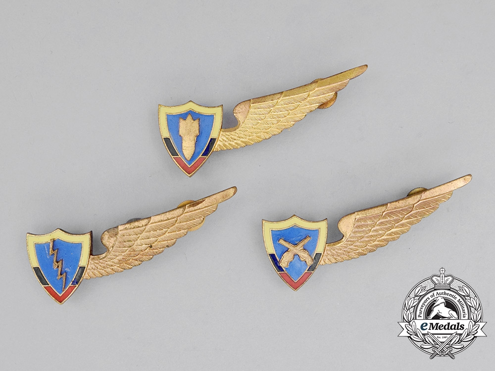 eMedals-Three Colombian Air Force (FAC) Badges