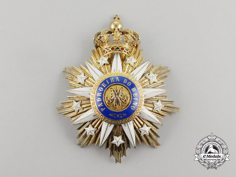 eMedals-Portugal, Kingdom. An Order of the Immaculate Conception of Vila Viçosa, Commander's Star, c.1910