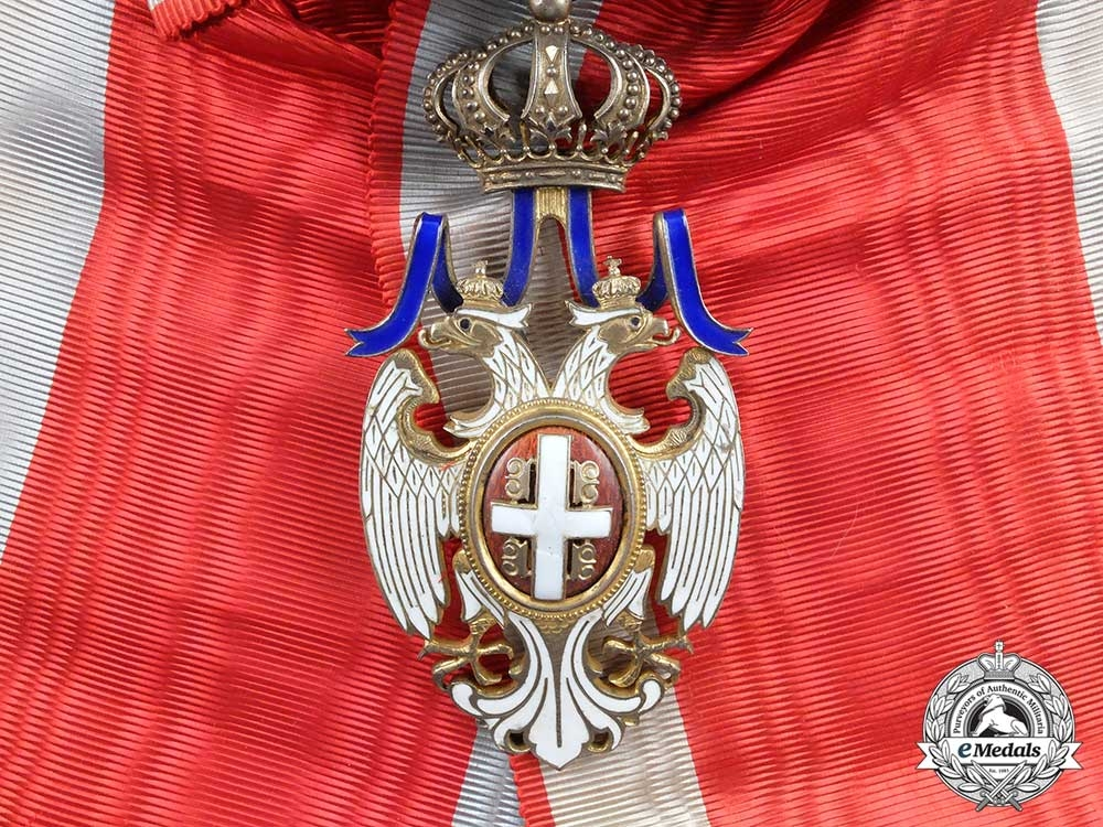 eMedals-Serbia, Kingdom. An Order of the White Eagle, Grand Cross, by Huguenin Frères