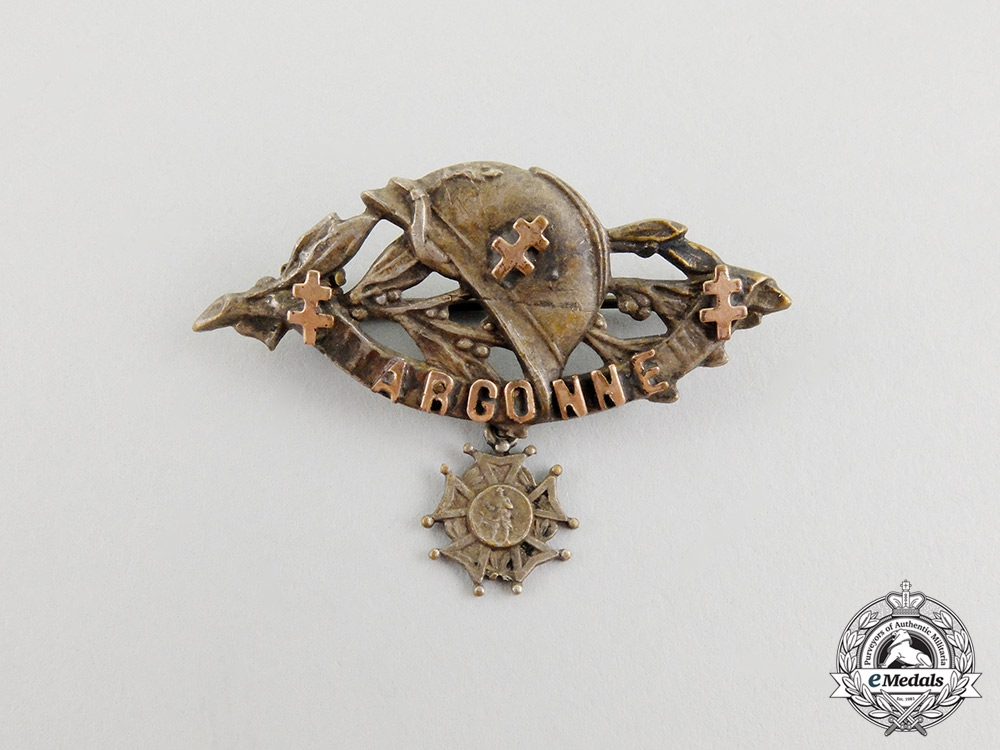eMedals- A French First War Argonne Commemorative Badge
