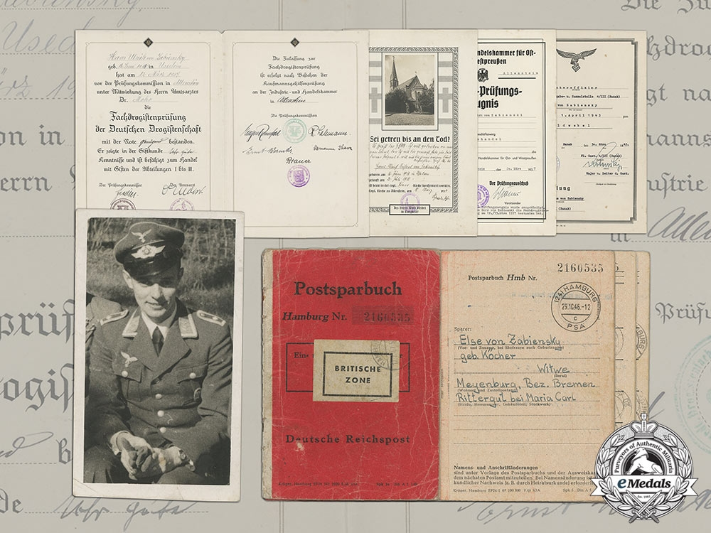 eMedals-Documents of Brothers in the Luftwaffe; Hans-Ulrich and Heinz-Günther (KIA) von Zabiensky