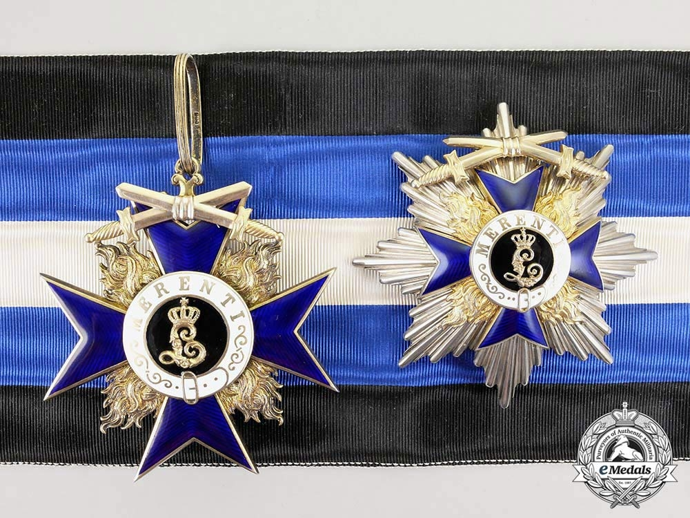 eMedals-An Extremely Rare Bavarian Order of Military Merit; 1st Class Cross for Civilian Personnel; 4 Awarded