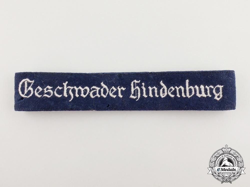 eMedals-A Second War German Luftwaffe Geschwader Hindenburg Cuff Title