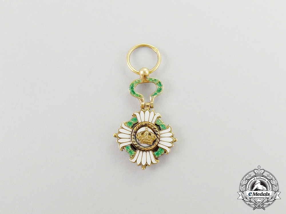 eMedals-  A Miniature Order of the Yugoslav Crown in Gold