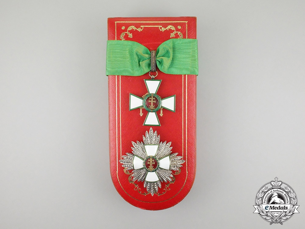 eMedals-Hungary (Regency). An Order of Merit Grand Officer's Set; Civil Division with Case