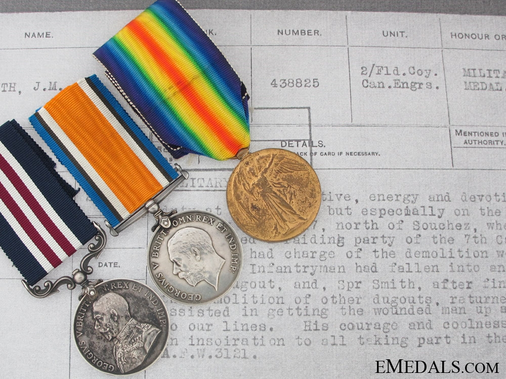 eMedals-A Military Medal Group For a 1917 Trench Raid