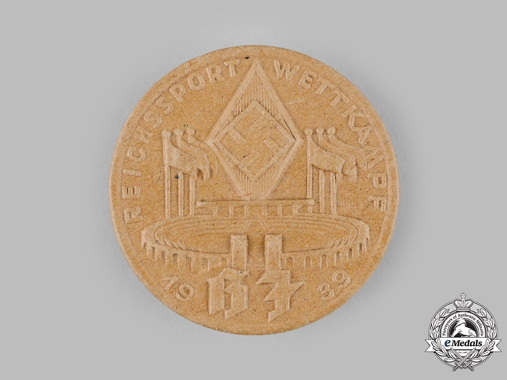 eMedals-Germany, HJ. A 1939 HJ National Athletics Competition Badge