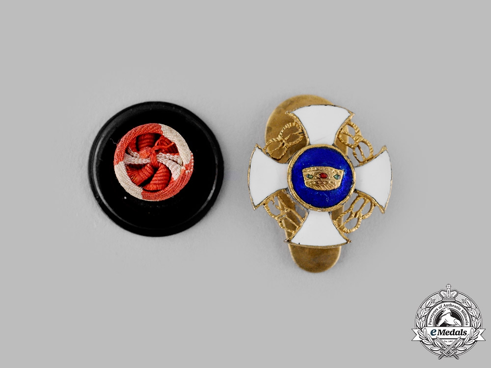 eMedals-Italy, Kingdom. An Order of the Crown of Italy, Miniature with Rosette, c.1940
