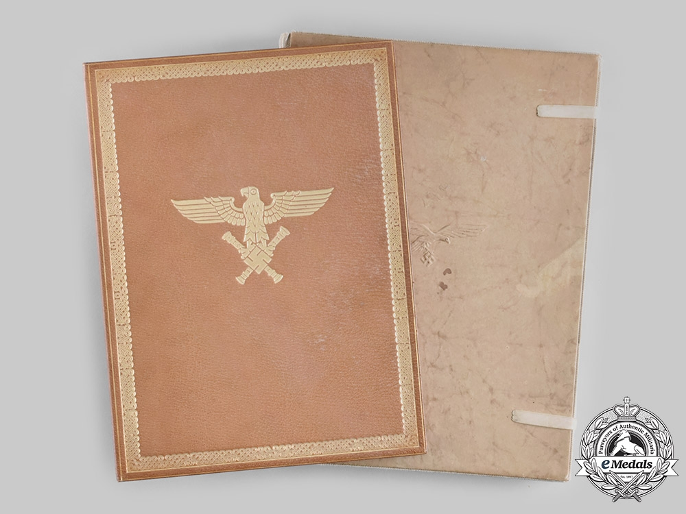 eMedals-Germany, Luftwaffe. A Pilot Observer's Badge in Gold & Diamonds Award Document