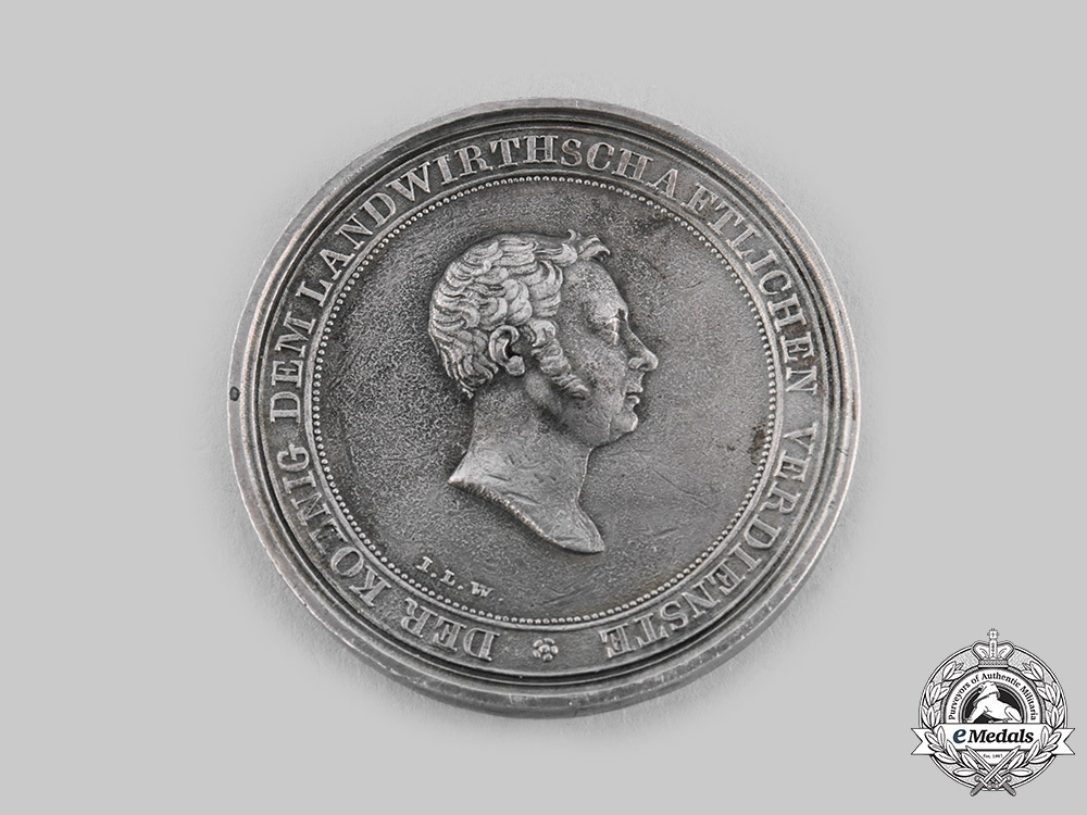 eMedals-Wurttemberg, Kingdom. A Table Medal for Agricultural Merit