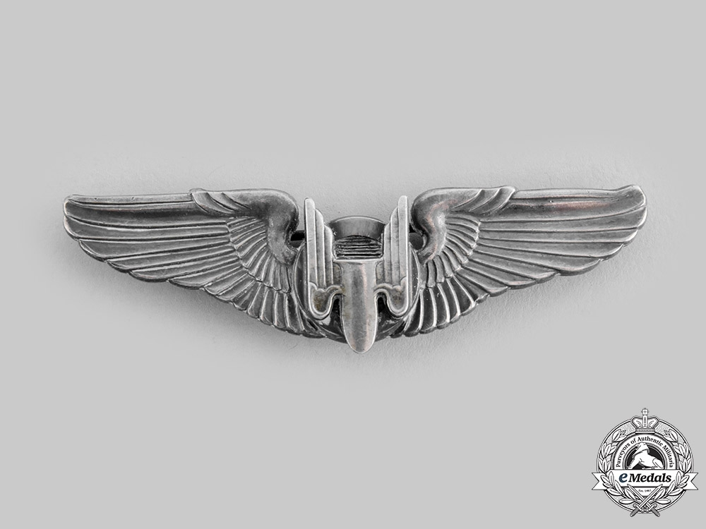 eMedals-United States. An Australian-Made Army Air Force Aerial Gunner Badge, by K.G.Luke, c.1941
