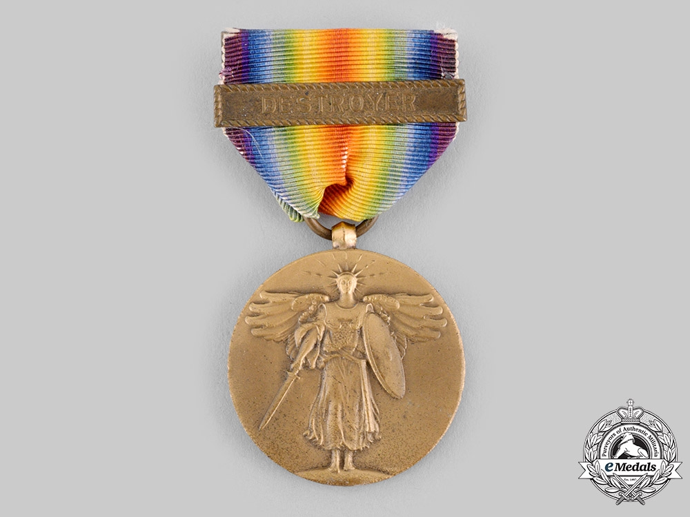 eMedals-United States. A World War I Victory Medal, Destroyer Clasp