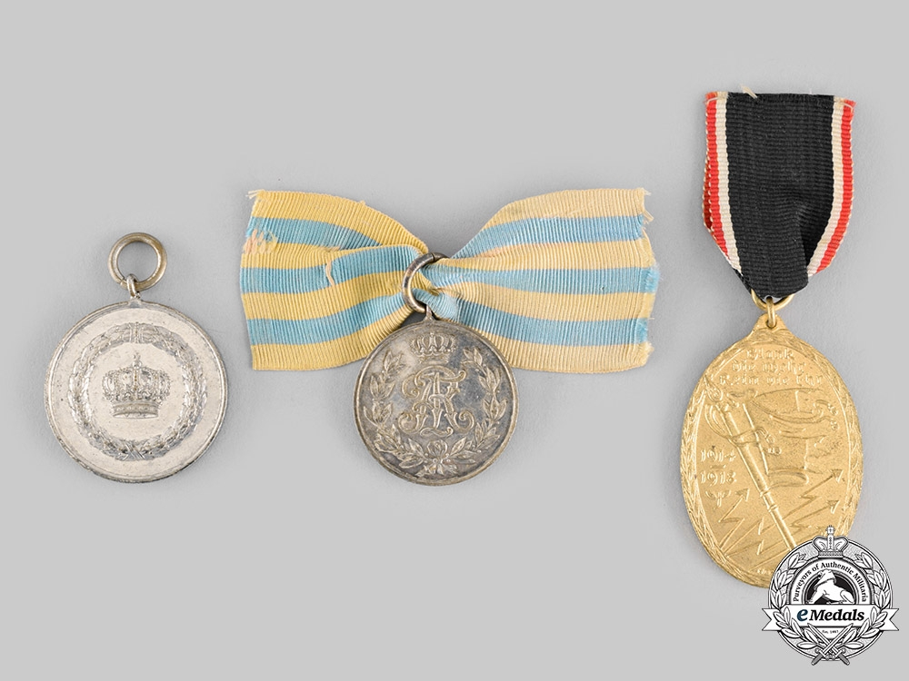 eMedals-Germany, Imperial. A Lot of Three Decorations & Awards