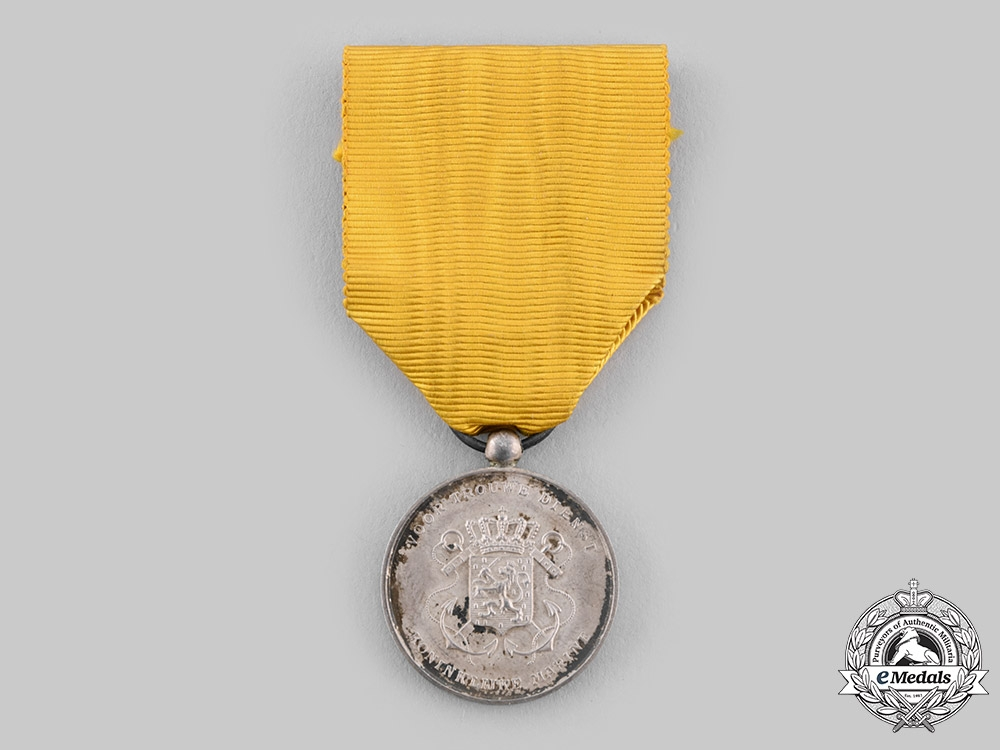 eMedals-Netherlands, Kingdom. A Royal Navy Long Service Medal, Silver Grade Reduced Version for NCOs, c.1900