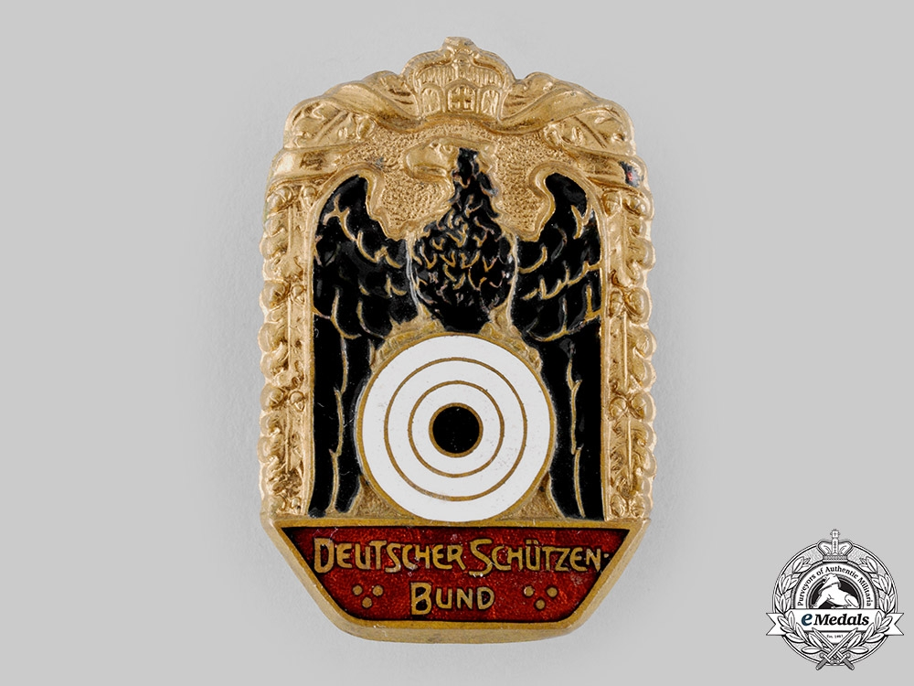 eMedals-Germany, Imperial. A Shooting Federation (DSB) Membership Badge, Large Version, by L. Christian Lauer