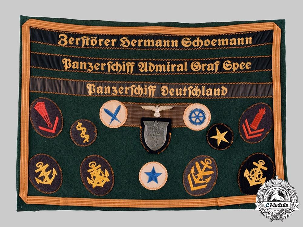 eMedals-Germany, Kriegsmarine. A Rare Naval Issue Kuban Shield, Souvenir Presentation