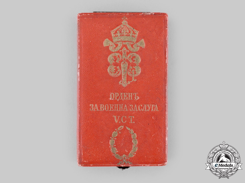 eMedals-Bulgaria, Kingdom. An Order of Military Merit, V Class with War Decoration Case, c.1900
