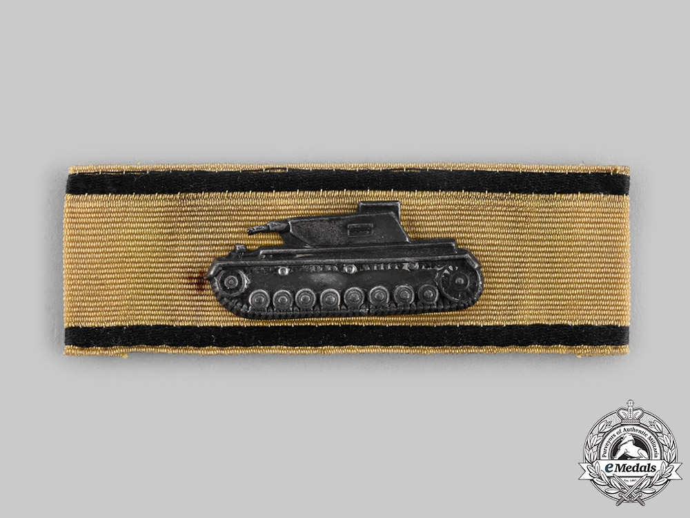 eMedals-Germany, Wehrmacht. A Rare Tank Destruction Badge, Gold Grade