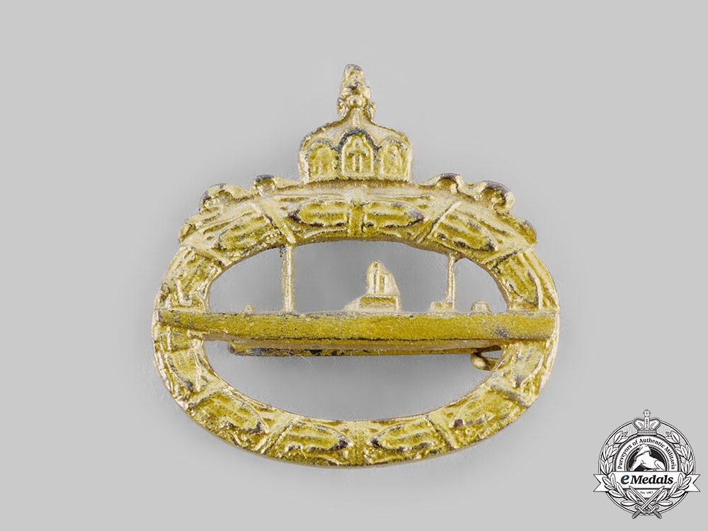 eMedals-Germany, Imperial. A Prinzen Size Imperial Submarine (U-Boat) Badge
